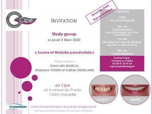 Invitation presentation sur le Sourire et la Maladie Parodontale