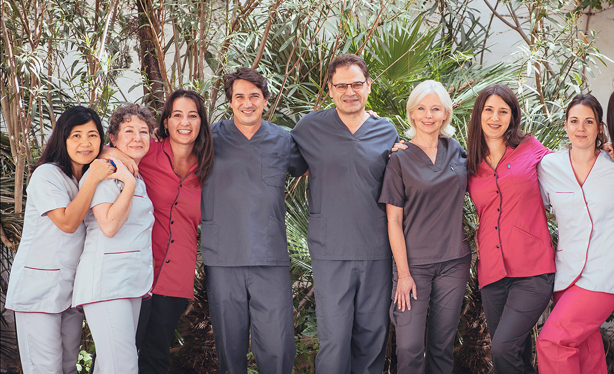 Equipe du Centre d'implotologie et de parodontologie de Marseille